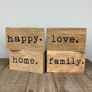 Hobby Lobby set of 4 small wooden signs